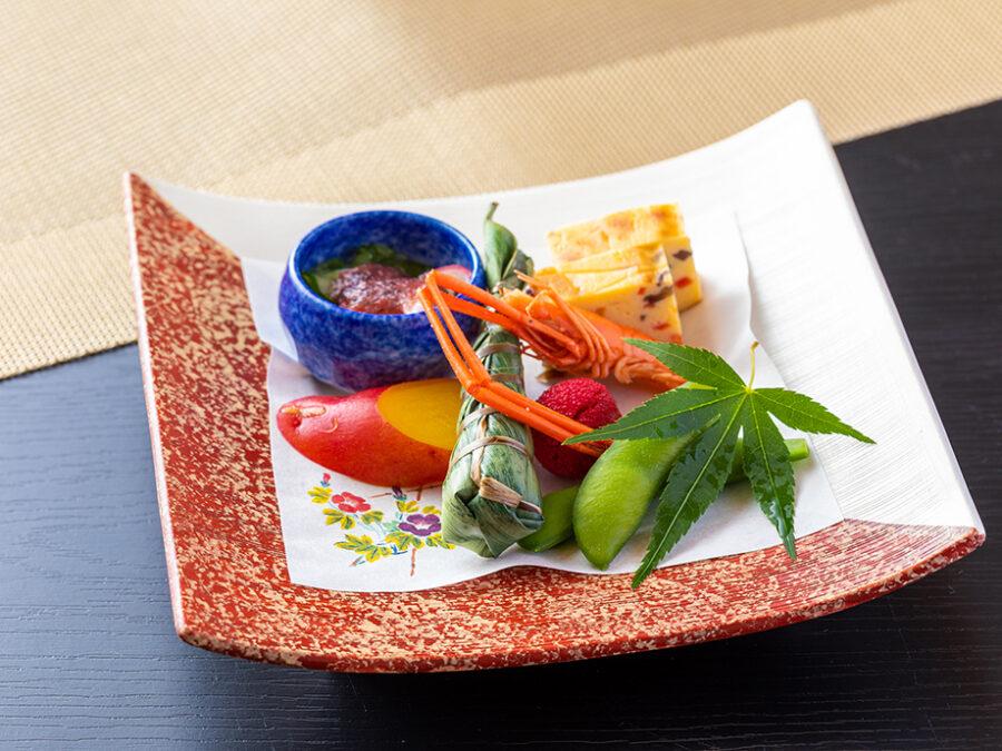 【門前懐石(夏)】前菜 一例